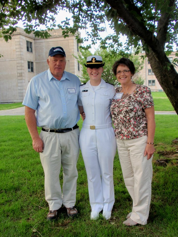 In my whites with my parents
